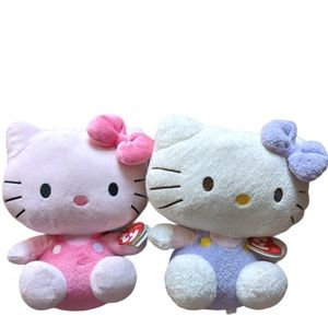 Hello Kitty Ty Beanie Baby Pluffies bundle